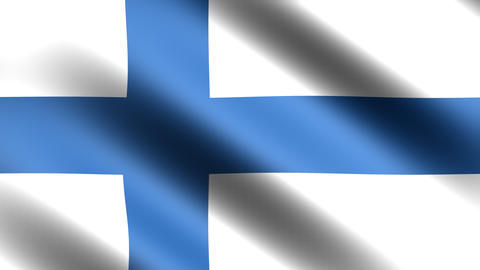 4k Flag Finland Stock Video Footage