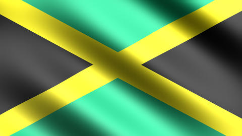 4k Flag Jamaica Animation