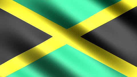 4k Flag Jamaica Stock Video Footage