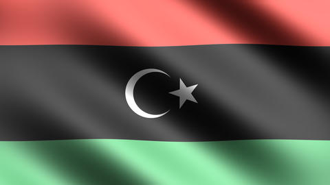 4K Flag Libya Stock Video Footage