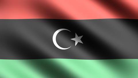 4K Flag Libya Stock Video Footage