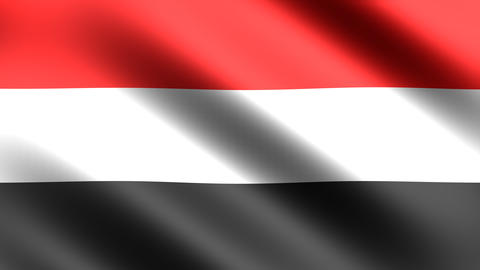 4k Flag Yemen Animation