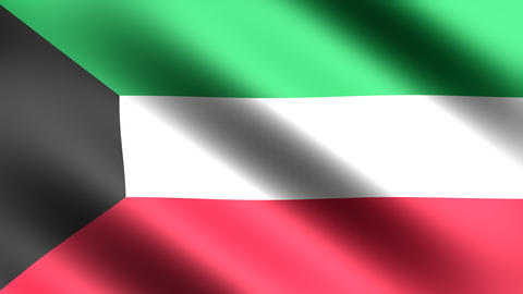 4K Kuwait Flag Animation