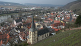 Pan  Tilt  Shot  Over   Klingenberg  Am   Main  Germany 10925  stock footage