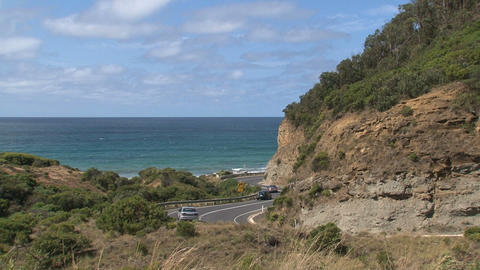 Greatoceanroad cars 08 Stock Video Footage