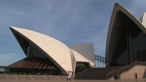 Sydney Opera House Pan Stock Video Footage