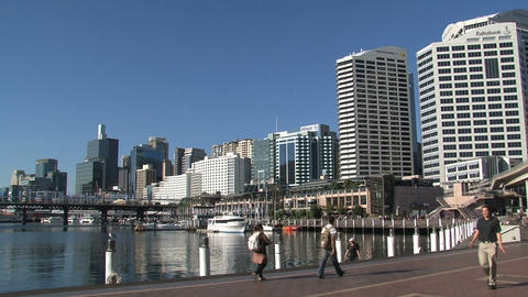 Downtown Sydney harbor Stock Video Footage