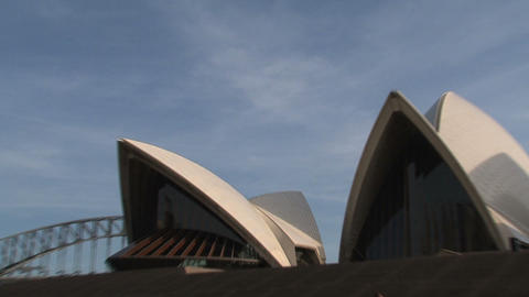 Opera House zoom-out Stock Video Footage