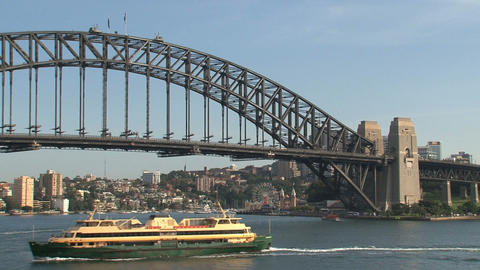 Big ferry arriving in Sydney harbor Footage