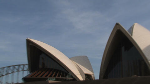 Zoom out from the Opera house Stock Video Footage