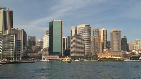 Sydney harbor skyline Stock Video Footage