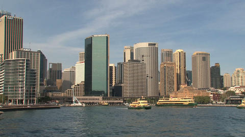 Sydney harbor skyline Stock Video Footage