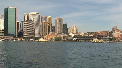 Sydney harbor skyline Footage