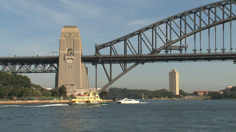 Harbor bridge Stock Video Footage