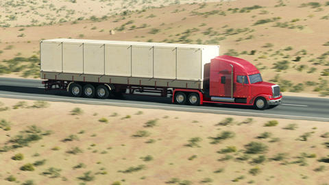 Truck on highway Stock Video Footage