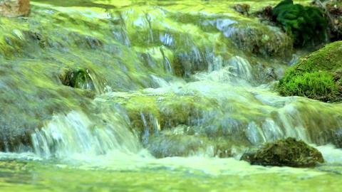 Waterfall, Grand Canyon of Crimea, Crimea, Ukraine Stock Video Footage
