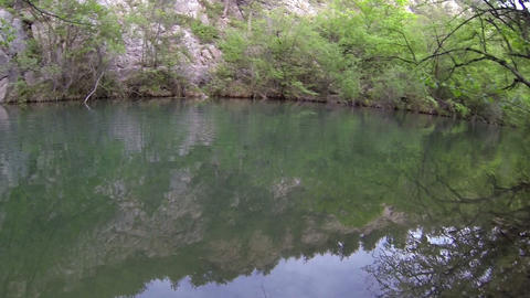Underwater Mountain River stock footage
