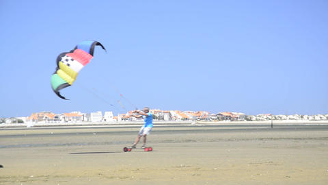 Francisco Costa on a landing kite Footage