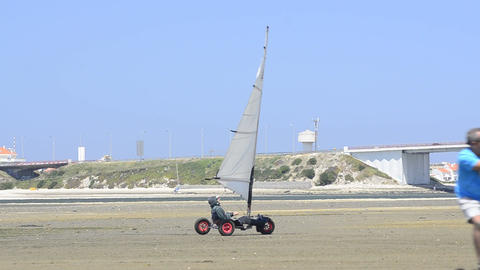 Wind powered vehicles Footage
