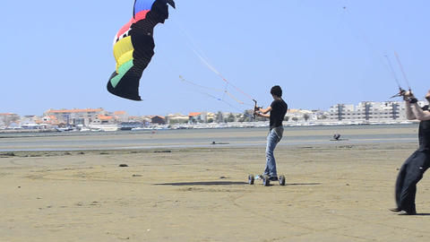 Paulo Azevedo On A Landing Kite stock footage