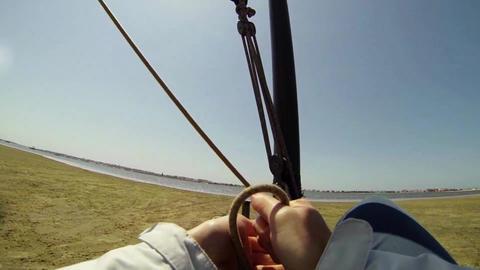 Windcar pilot POV Stock Video Footage