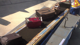 Baggage Handlers stock footage