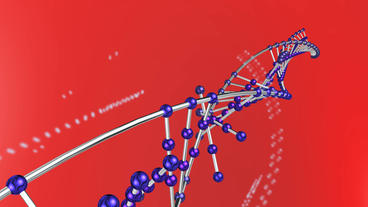 3D DNA string & particles Stock Video Footage