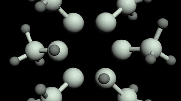 Abstract molecular nanostructure structure model Stock Video Footage