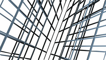 abstract grid lines tunnel,virtual tech internet background Animation