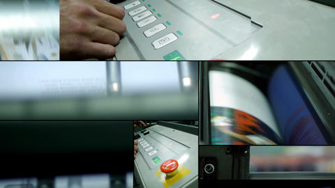 Offset printing montage Stock Video Footage