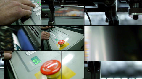 Offset printing montage Footage