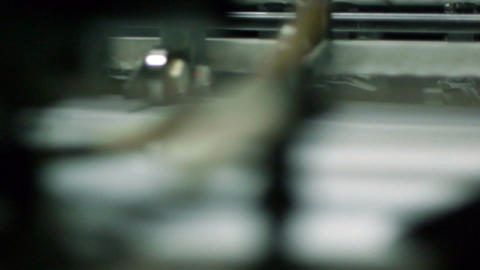Offset printing process Footage