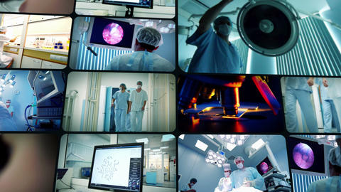 Science and Medicine montage Stock Video Footage