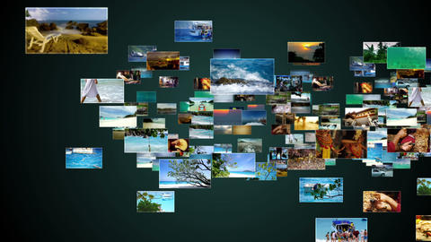 Vacation and Travel montage Stock Video Footage