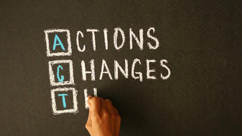Actions Changes Things Chalk Drawing Stock Video Footage