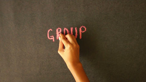 Group Development Chalk Drawing Stock Video Footage