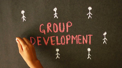 Group Development Chalk Drawing Footage