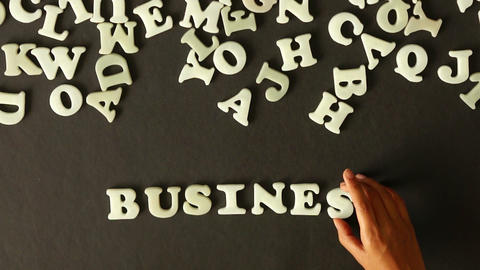 Business Word out of Plastic Letters ภาพวิดีโอ