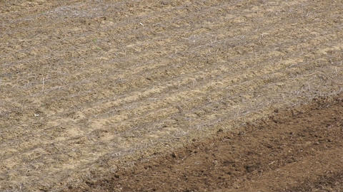 Tractor plowing the field 02 Stock Video Footage