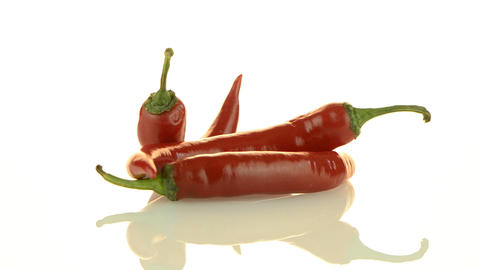 Red chili peppers Stock Video Footage