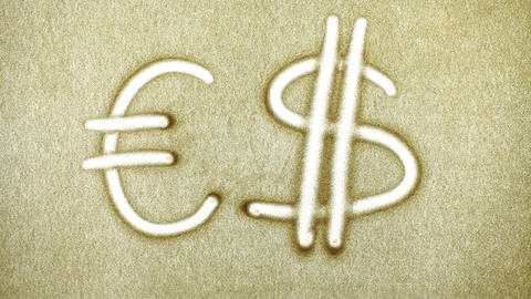Exchange Euro Dollar, Sand Painting ภาพวิดีโอ
