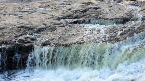 Waterfall on the River Mountain Tikich. Buki village,... Stock Video Footage