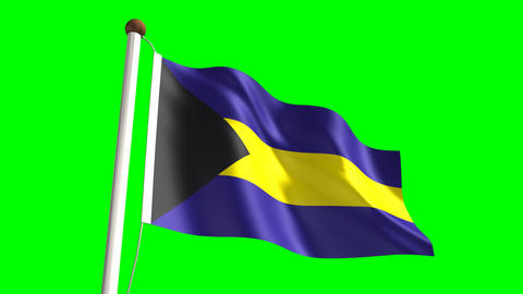 Bahamas flag Animation