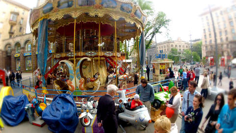 carousel in the street Footage