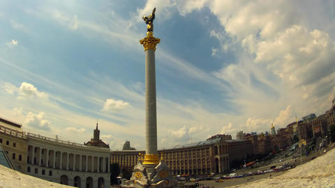 Independence Square In Kyiv  stock footage