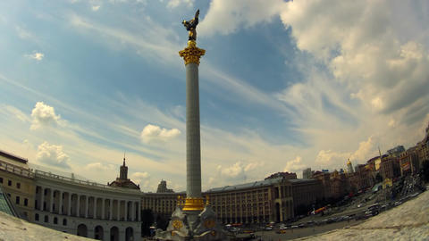 Independence Square in Kyiv Stock Video Footage
