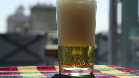 Glass of beer Stock Video Footage