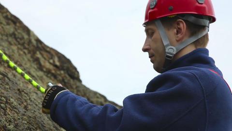 Alpinist Stock Video Footage