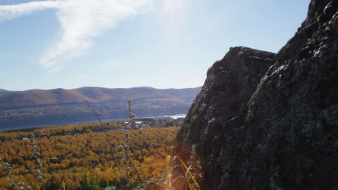 Movement along the rocks Stock Video Footage
