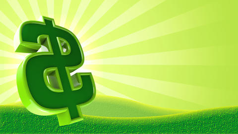 Dollar Sign Background Loop Stock Video Footage
